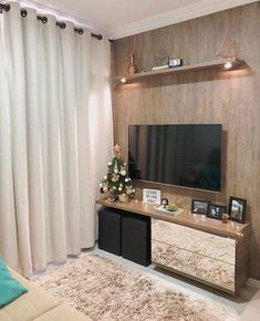 Ideas Living Room Tv Wall Ideas Small Apartments Interior Design Ideas Living Room Tv Wall I Small Apartment Interior, Small Apartment Decorating, Interior Design Living Room, Living Room Designs, Interior Livingroom, Living Room Tv, Small Living Rooms, Contemporary Home Decor, Bedroom Decor