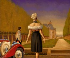 GUEST  by  Peregrine Heathcote  oil on canvas