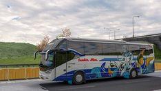 Livery Penari Dolalak Bus Sumber Alam