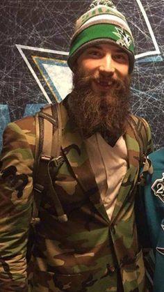 Brent Burns #beards #beardstyle #nhl Brent Burns, Horror Movie Characters, Great Beards, Beard Love, San Jose Sharks, Epic Beard, Hair And Beard Styles, Hockey Players, Ice Hockey