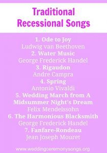 1000 Ideas About Recessional Songs On Pinterest