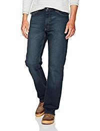 Wrangler Men's Authentics Classic Relaxed-Fit Jean, Military Blue Flex, 36 X 30 Mens Fashion Magazine, Corporate Wear, Loose Fit Jeans, Thing 1, Straight Cut Jeans, Mens Big And Tall, Fashion Wear, Jean Outfits, Skinny Fit
