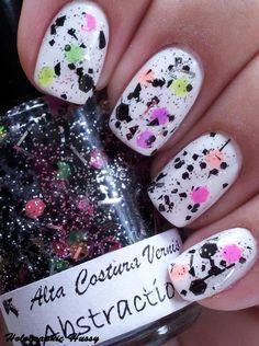 splashed nails