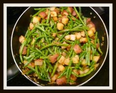 Skillet potatoes and green beans Bowdabra Blog