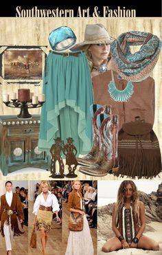 Southwestern art and art-to-wear fashions