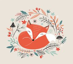 Leading Illustration & Publishing Agency based in London, New York & Marbella. Fox Nursery, Nursery Art, Watercolor Animals, Watercolor Cards, Greeting Card Companies, Scandinavian Folk Art, Fox Illustration, Fox Art, Freelance Illustrator