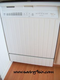 DIY Dishwasher Facelift! #kitchen #diy