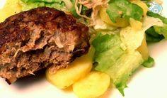 Fleischpflanzerl mit EndivienKartoffelsalat