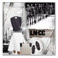 """""""LN-CC"""" by anashe ❤ liked on Polyvore featuring Lanvin, Cutler and Gross, Ann Demeulemeester and Maison Margiela"""