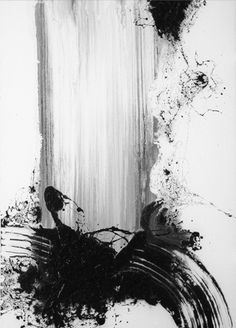 "Won Sou-Yeol ""Illustration Approach: Fast This image portrays 'fast' though the movement seen in the stroke and it's rough and urgent nature. Franz Kline, Black And White Abstract, White Art, Painting Inspiration, Art Inspo, Stoff Design, Contemporary Abstract Art, Ink Painting, Watercolor Artists"