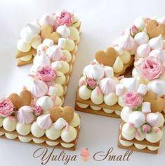 Digit Cake Recipe by Yuliya Small- Рецепт торта Цифра от Yuliya Small Digit Cake Recipe by Yuliya Small - Number Birthday Cakes, Number Cakes, Cupcakes, Cupcake Cakes, Super Cookies, Cake Cookies, Cookie Dough Recipes, Cupcake Recipes, Cookie Wedding Favors