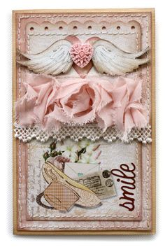 Heart Wings Card made by DT member Gabrielle Pollacco using Websters Pages 'Western Romance' collection. Atc Cards, Card Tags, Envelopes, Wings Card, Card Creator, Websters Pages, Shabby Chic Cards, Scrapbook Cards, Scrapbook Layouts