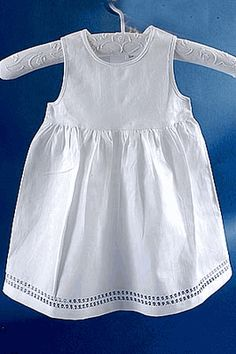 Edinburgh Style Double Hemstitched Baby Dress
