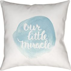 """Viv + Rae Gianna Indoor/Outdoor Throw Pillow Size: 18"""" H x 18"""" W, Color: Blue"""