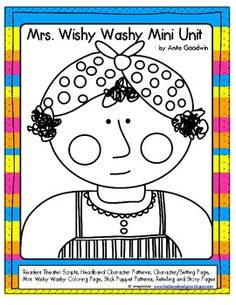 """FREE!! This packet was made for my Second Graders to pair up with Kindergarten student and do some fun activities with Mrs. Wishy Washy Books. It in include 2 different Reader's Theater Scripts, Stick Puppet Patterns, Headband Patterns, Writing Sheets to do retelling of Mrs. Wishy Washy Stories or make your own Mrs. Wishy Washy Story and a coloring page. It has lots of picture samples also. ....Follow for Free """"too-neat-not-to-keep"""" teaching tools & other fun stuff :)"""