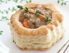 A hearty Irish stew, presented in an edible puff-pastry bowl, becomes a pretty teatime savory for St. A hearty Irish stew, presented in an edible puff-pastry bowl, becomes a pretty teatime savory for St. Patty Shells Recipe, Stuffed Shells Recipe, Irish Recipes, Tea Recipes, Cooking Recipes, Lamb Recipes, Saint Patrick, Irish Lamb Stew, Irish Tea