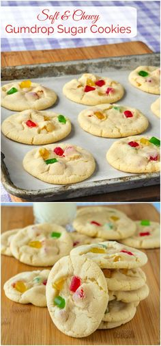 Soft Chewy Gumdrop Sugar Cookies - Sure to be popular with kids, this cookie favourite gets a new update with the addition of brightly coloured gumdrops. The latest in our collection of #RockRecipes100Cookies4Christmas .