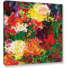 ArtWall Allan Friedlander Wisteria And Roses Gallery-wrapped Canvas, Size: 24 x 24, Green