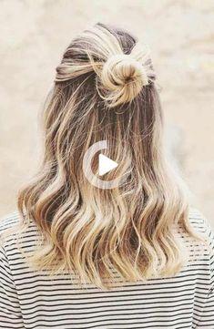35 trendy ideas hairstyles for school updo easy Quick Hairstyles For School, Prom Hairstyles For Long Hair, Teen Hairstyles, Elegant Hairstyles, Beautiful Hairstyles, Summer Hairstyles, Cute Medium Length Hairstyles, Easy Hairstyles For Medium Hair, Cute Short Haircuts