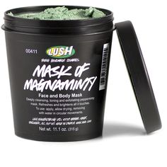 [LUSH Cosmetics 'Mask of Magnaminty.'  The China clay is deep cleansing + peppermint gives your face a clean tingle after rinsing. Aduki beans are great for exfoliating without shredding sensitive skin. And the smell isn't shabby either.   A great alternative to the fresh masks when you live nowhere near a store + can be used as a body mask, too.]