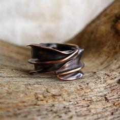 leaf anello rame foldforming,forgiatura