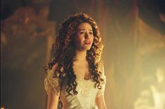 Christine Daae played by Emmy Rossum in Phantom of the Opera Broadway Costumes, Movie Costumes, It's Over Now, Opera Ghost, Plus Tv, Music Of The Night, Emmy Rossum, Phantom Of The Opera, Curls