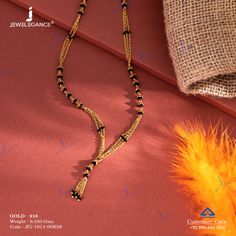 Plain Gold Mangalsutra gms) - Plain Gold Jewellery for Women by Jewelegance Diamond Mangalsutra, Gold Mangalsutra Designs, Gold Jewellery Design, Bridal Jewelry, Beaded Jewelry, Fashion Jewelry, Women Jewelry, Gold Jewelry Simple, Gold Set