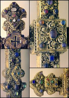 Cross- reliquary-detail collage- Limousin, 13c  MUSEE NATIONAL DU MOYEN AGE,CLUNY