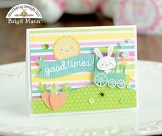 Doodlebug Design Inc Blog: Easter Express Collection: Shadowbox Gift Card Bag & Box by Brigit Mann