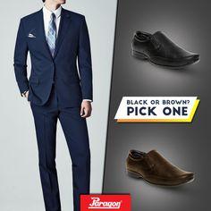 paragon black shoes price