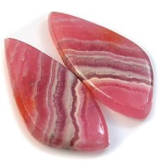 Natural Rhodochrosite Fancy Cut Cabochon Pair Collection #sonatona