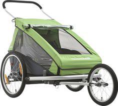 Sportieve ouders kunnen hun hart ophalen met de Kid 2-fietskar van Croozer met 2 zitjes. Je gebruikt 'm als fietskar, buggy of wandelwagen. Om te wandelen, joggen of fietsen!