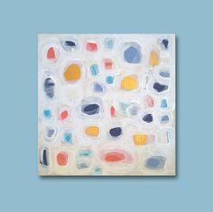 Abstract Acrylic Painting Original Fine Art 6x6 by linneaheideart