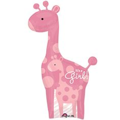Safari Girl Giraffe SuperShape Foil Balloon
