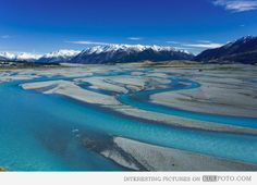 #Waimakariri #River North Canterbury rivers, in the South Island of #New Zealand. It flows for 151 kilometres in a generally southeastward direction from the Southern Alps across the Canterbury Plains to the Pacific Ocean.