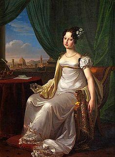 1817 Maria Teresa di Toscana by Pietro Benvenuti (Palazzo Reale - Racconigi, Piemonte Italy) From the-athenaeum