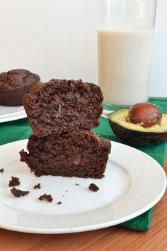 Yummy Healthy Chocolate Avocado Muffins!!!! |shebakeshere.com