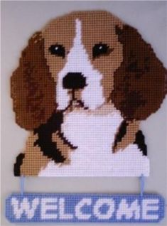 Everything Plastic Canvas - Beagle Welcome Sign