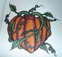 pumpkin tattoos designs - Google Search