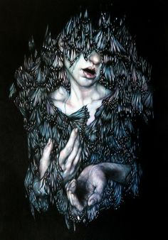 Infused with ecstasy and a dark beauty, Marco Mazzoni's art underlines the connection between the natural world and our own. First featured on the cover of Hi-Fructose Vol. 20, and our blog, …