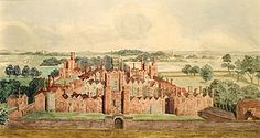 The original 16th-century Oatlands Palace. Henry VIII. found the hunting at Oatlands much to his liking!