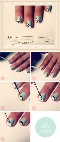 """""""Fancy Fingers: The Bow Mani"""" by Kristin Ess on The Beauty Department"""