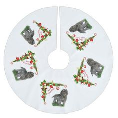 Belgian Sheepdog Brushed Polyester Tree Skirt - holidays diy custom design cyo holiday family