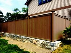 Brown Wood Privacy Fencing