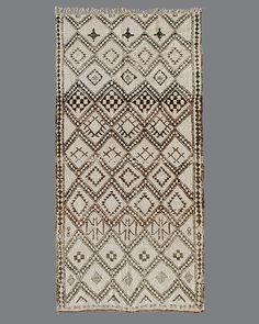 "Rug Berber Moroccan Vintage Carpet Tribal Traditional Handmade 100/% 3/'2/"" x 1/'7/"""