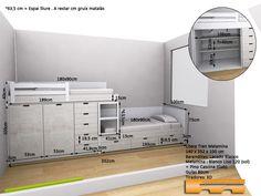 Kids Bedroom Designs, Bunk Bed Designs, Home Room Design, Kids Room Design, Small Bedroom Furniture, Room Ideas Bedroom, Small Room Bedroom, Bedroom Layouts, Bunk Bed Rooms