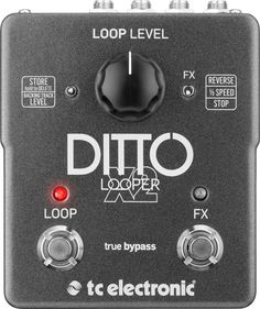 The TC Electronic Ditto is a guitar looper effects pedal, building on the original Ditto model with a variety of additional features and looping effects. Guitar Effects Pedals, Guitar Pedals, Guitar Shop, Music Guitar, Music Music, Music Stuff, Backing Tracks, Pedalboard, John Mayer