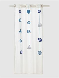 Bedroom Voile Panel White / garlands