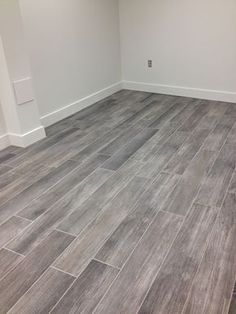 Porcelain grey wood tile