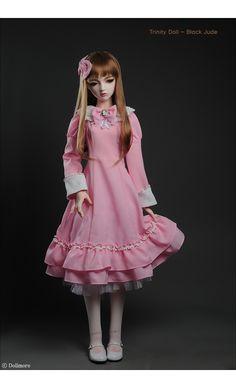 Trinity Doll Size - Bommbomm Dress Set (Pink)